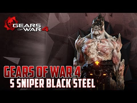 Gears of War 4 | Black Steel Swarm Sniper | Soy SUPER Mochila !!