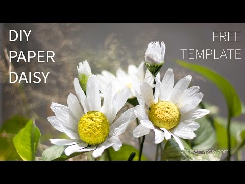 [FREE template and tutorial] Paper daisy flower