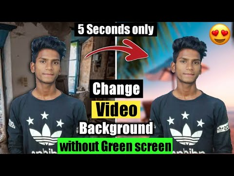 Change video background - No green screen😍🔥   How to change Video background without Green screen