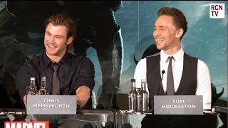 Kid in Thor Costume asks Chris Hemsworth & Tom Hiddleston If They