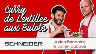 Curry de lentilles aux bulots avec Julien Bonnaire - Les recettes du TOP 14