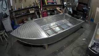 алюминиевая лодка 3.5 м палуба