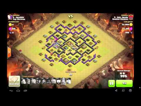 Th 8 clan war 3 stars gohog attack strategy youtube
