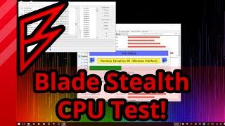 Razer Blade Stealth CPU Benchmarks and Stress Test!