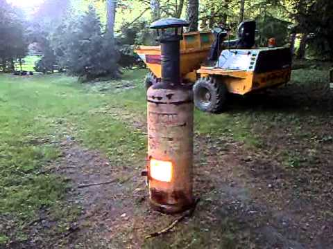 Homemade Chiminea Gas Bottle