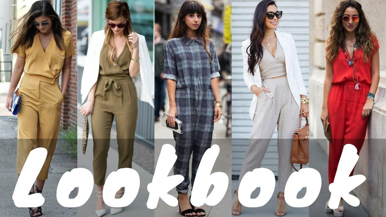 Latest Jumpsuit Dresses Outfit Ideas Trend for Spring 2018 | Spring Fashion Lookbook 2