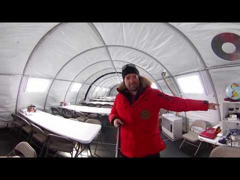 Как ходят в туалет в Антарктиде - экскурсия 360 градусов по антарктическому лагерю #Mamontcup2018