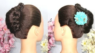 New french Bun Hairstyle For Party || cute hairstyle || simple hairstyles || hairstyle for girls