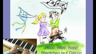 Hopp hopp hopp, Pferdchen lauf Galopp - Kinderlieder zum mitsingen