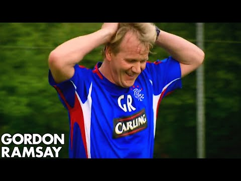 Gordon Ramsay Playing Football