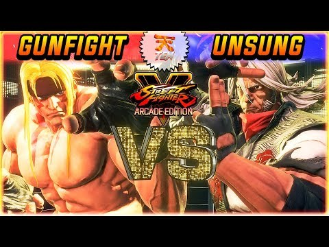 SFV/SF5 3.5 ✪ GUNFIGHT (#1 ALEX) VS UNSUNG (#1 ZEKU) | FT5 SET ✪ SFV/SF5 AE