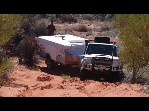 Hay River Track - Simpson Desert  - V8 Landcruiser 76 - Jayco Swan - Navara D40 - UEV490