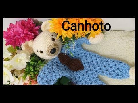 Naninha De Crochê Ursinho ( Versão Canhoto ) ( Left- Handed)