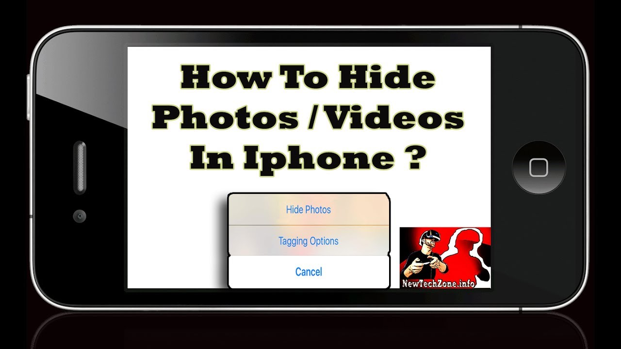 Hide pictures and videos on iphone