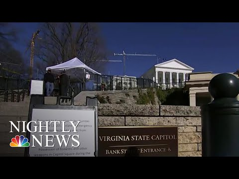Richmond On Edge Ahead Of Pro-Gun Rally At Virginia Capitol | NBC Nightly News