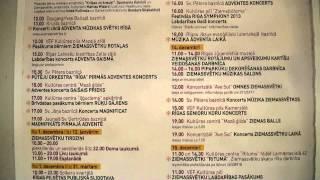 Adventa, Ziemassvētku un Jaunā gada sagaidīšanas pasākumi Rīgā 2013 g.