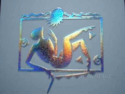 Heißfolienprägung Logo Auf Visitenkarte Mit Farbwechsel