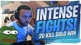 20 KILL SOLO! SUPER INTENSE FIGHTS  (Fortnite BR Full Game)
