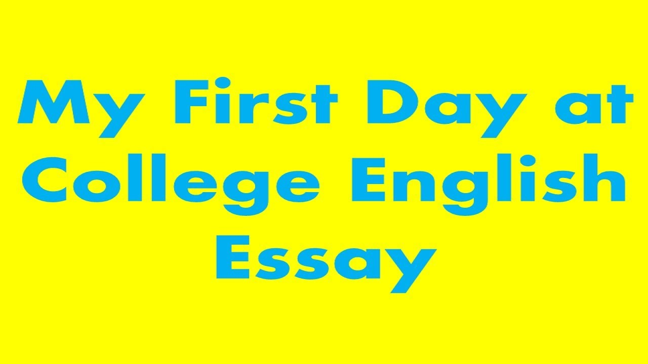 Apa Style For Essays  Essay On Self Introduction also Cultural Identity Essay My First Day At College English Essay  Youtube Best Topics For Persuasive Essay