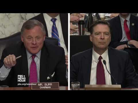 Sen. Burr asks James Comey whether he felt that President Trump tried to obstruct justice