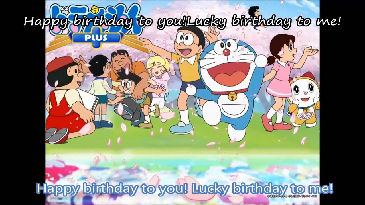 Happy Birthday Doraemon Song Vietsub Youtube
