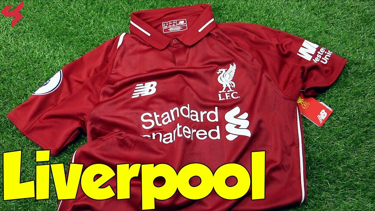 8bfffdc06 New Balance Liverpool FC M.Salah 2018/19 Home Soccer Jersey Unboxing +  Review