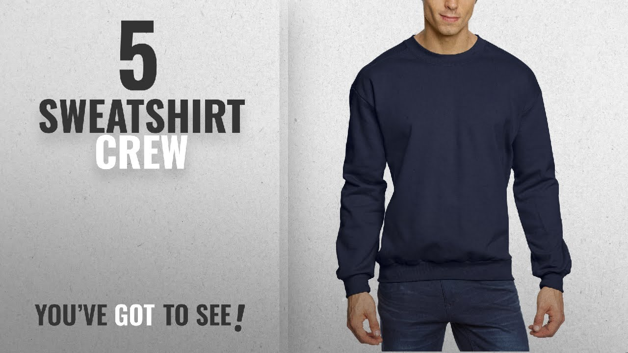 645ce5203 Top 10 Sweatshirt Crew [2018]: Anvil Men's Crew Neck Fleece Sweatshirt