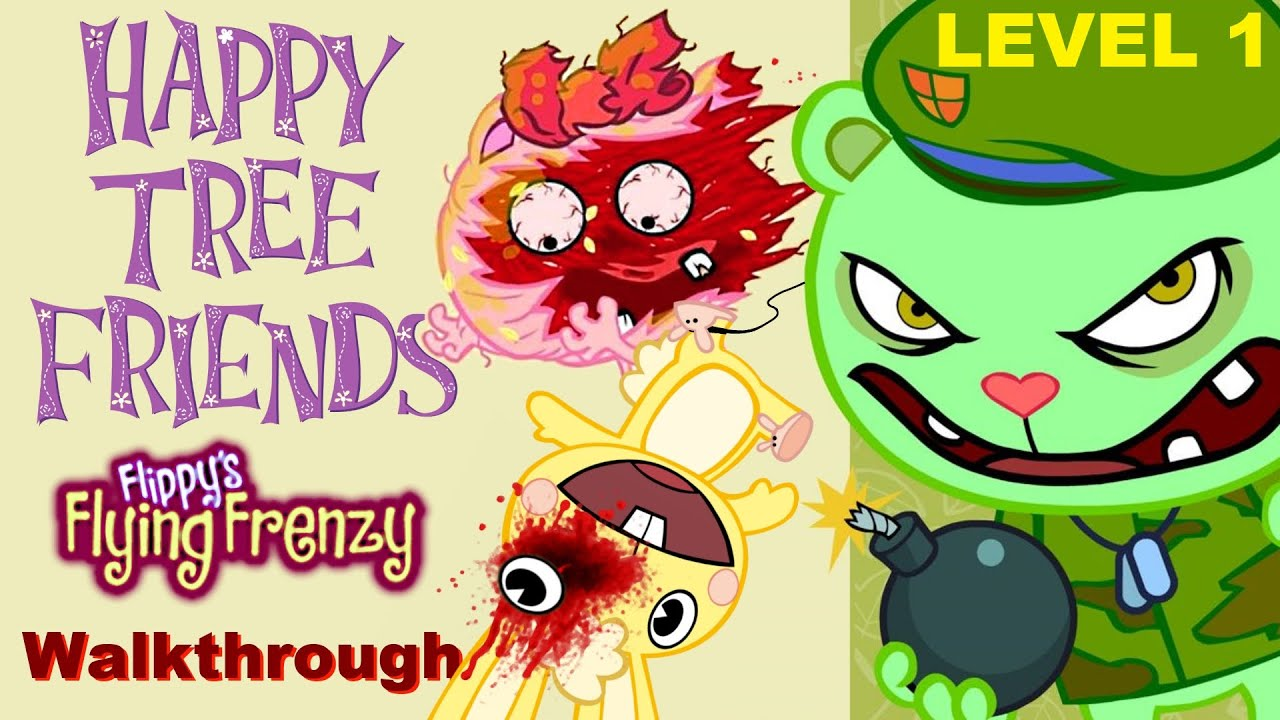 Happy Tree Friends The Game Level 1 Youtube