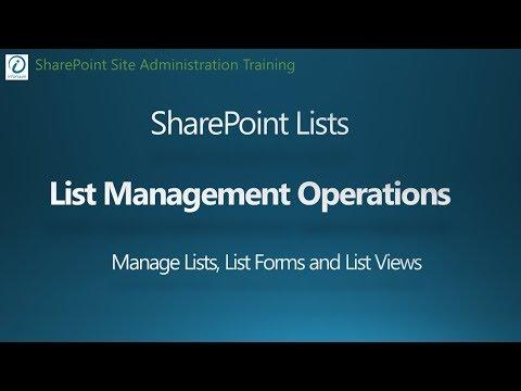 SharePoint 2016 Tutorial - Managing Lists, List Forms, List Views