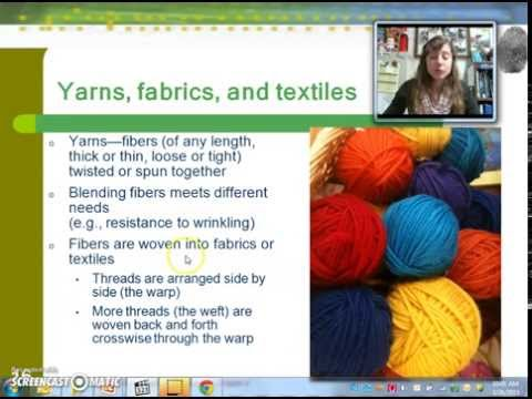 Study of Fibers & Textiles
