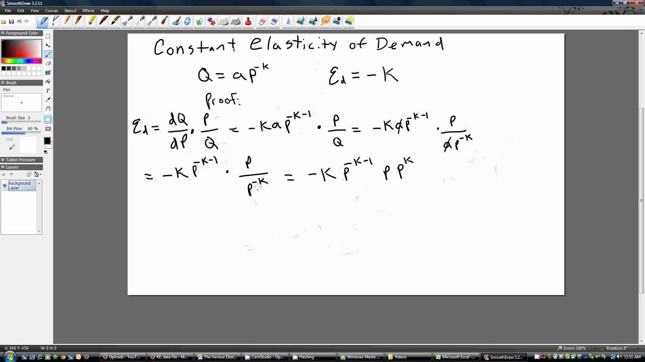 Constant Elasticity Of Demand Youtube