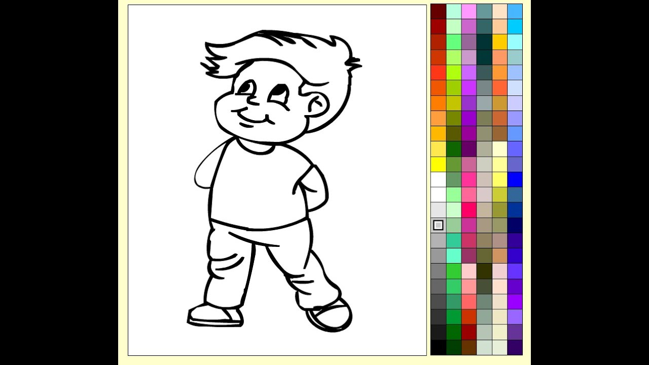 Boy Coloring Pages For Kids