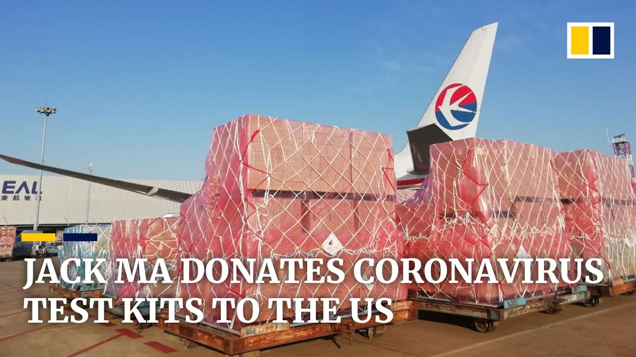 Jack Ma donates 500,000 coronavirus test kits and 1 million masks to the US