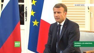 Emmanuel Macron : «En France, ceux qui ont manifesté se sont présentés librement aux élections»