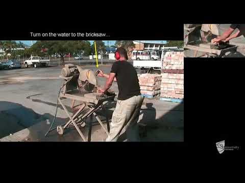 Using Wet Bricksaw
