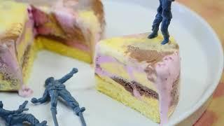 Леди Борден Розовый Камуфляж Мороженое Торт Бой Лето С Розовым Камуфляжем Ледяной Торт