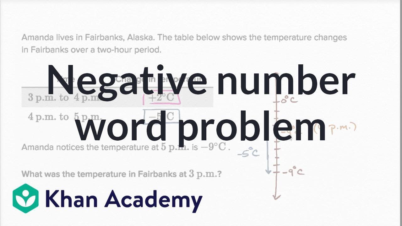 Negative number word problem: Alaska (video)   Khan Academy [ 720 x 1280 Pixel ]