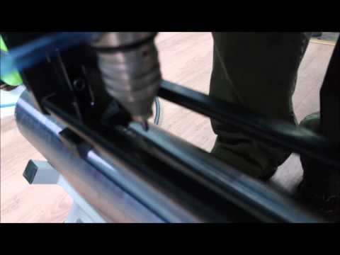 Micropunzonado en cilindro de acero