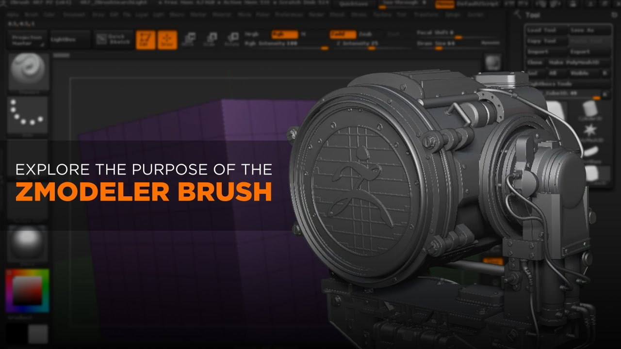 ZBrush Tutorial: Introduction to the ZModeler Brush - Pluralsight