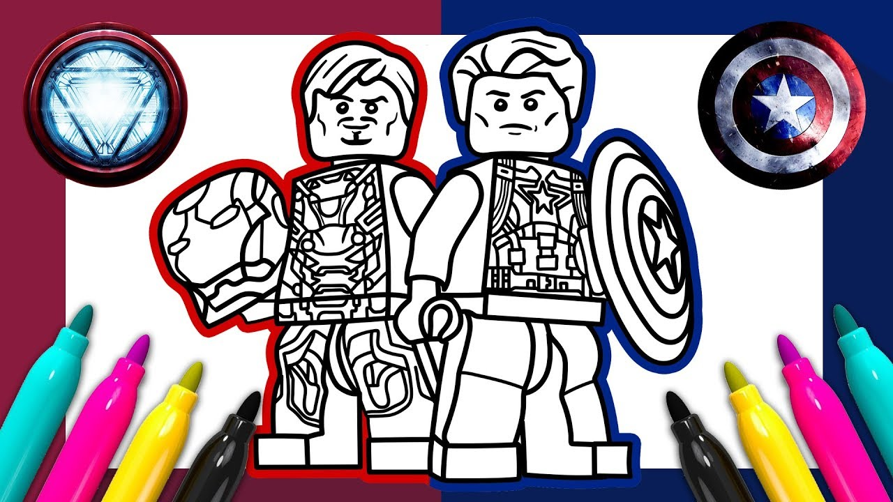 Capitan America Para Colorear: Captain America Iron Man Coloring Page