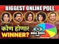 Bigg Boss Marathi Biggest Online Poll | Who Will Be The WINNER? | Megha Sai Pushkar Aastad Smita