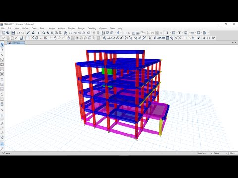 Etabs 2015 Tutorial 2 - Assigning Loads and Meshing of Slab