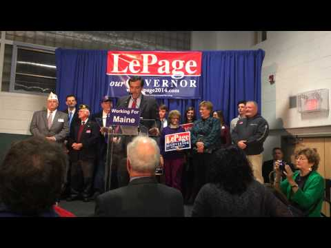 Maine GOP Chairman Rick Bennett Speaks In Support Of Governor Paul LePage At Kick-Off Rally