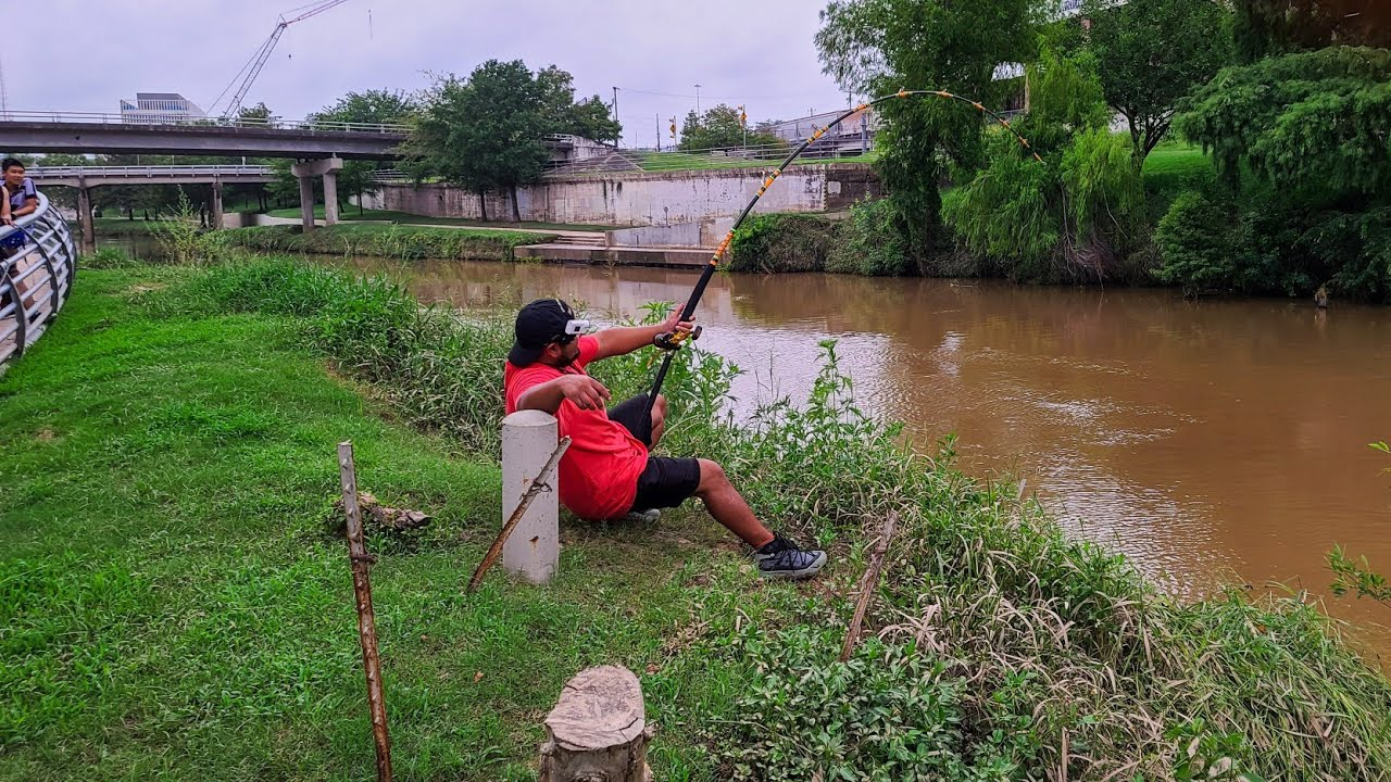 I Can't Believe I Caught This in Downtown Houston! Urban Fishing