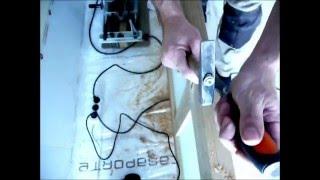 установка ручки с защёлкой (установка межкомнатных дверей в СПб).wmv