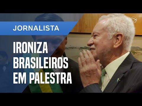 ALEXANDRE GARCIA IRONIZA BRASILEIROS EM PALESTRA