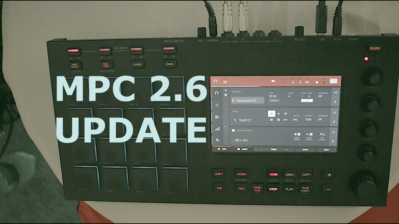 Mpc Touch 2 6 update overview on the MPC TOUCH