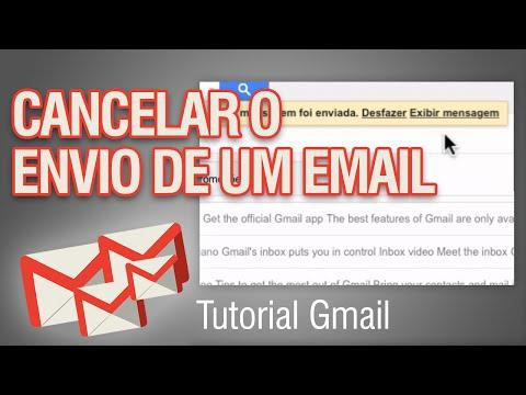 Como cancelar email enviado no Gmail - Como desfazer o envio do email