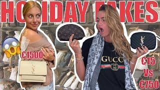 FAKE DESIGNER SHOPPING ON HOLIDAY...THEN COMPARING TO REAL | Syd and Ell