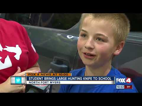 Student Expelled For Bringing Large Hunting Knife To School